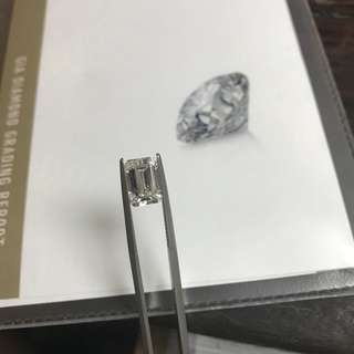 GIA emerald cut 2.21ct