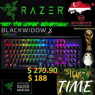"Razer BlackWidow X Chroma.., ""Hurry Grab the Offer Today.. while Stock Last..."" It is time.."" 15 July 2018 last day"""