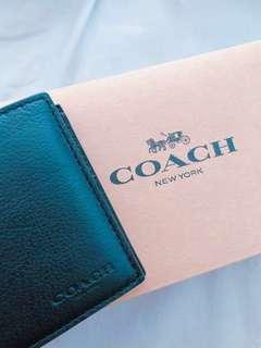 Coach 全新男裝銀包 有單有盒