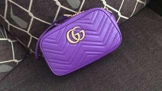 紫色Gucci Marmont Small Size