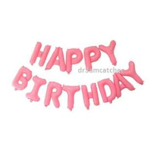New color! Bright candy pink Happy Birthday Balloons