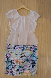 DRESS SEPAN FLOWER BODYCON