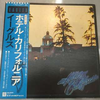 Eagles – Hotel California, Japan Press Vinyl LP, Asylum Records – P-10221Y, 1976, with OBI
