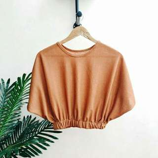Batwing Cropped Casual Top