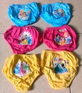 Underwear/Celana Dalam Anak Motif Disney Princess #MauDecay