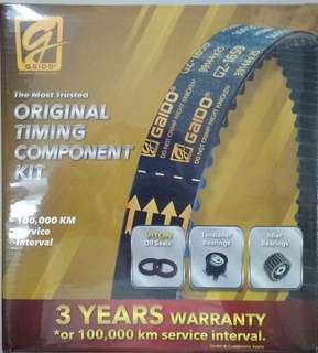 Gaido Timing Belt Set for Proton Saga FLX, Preve, Suprima S, Exora Turbo, Iriz & New Persona.
