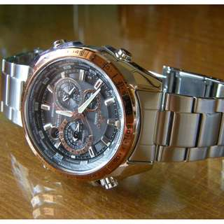 CASIO EDIFICE WATCH SILVER STANINLESS STEEL
