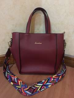 Import Bag Maroon