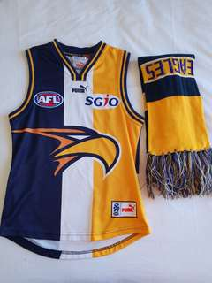 West coast eagles Guernsey and scarf