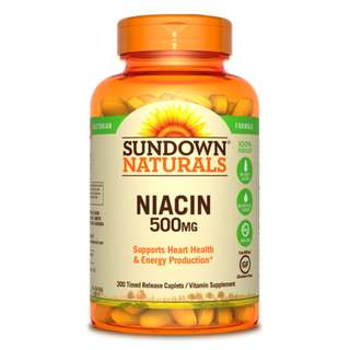 Niacin 500mg Time-Release, 200 caplets