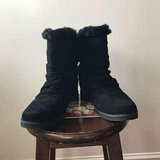 全新麂皮半筒靴