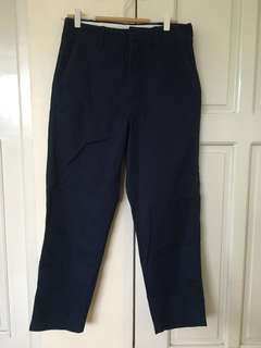 Uniqlo U Blue Wide Ankle Length Pants