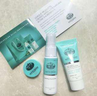 Italian skincare travel set