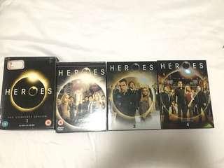Original HEROES DVD SEASONS 1-4