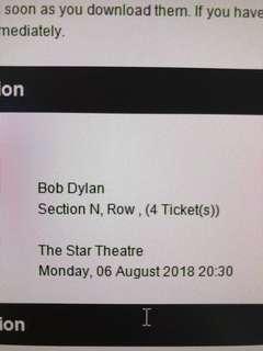 Bob Dylan tickets x4