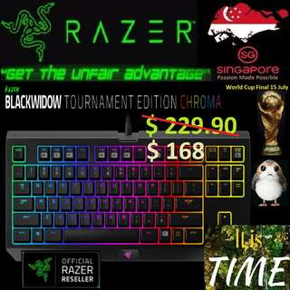 "Razer BlackWidow X Tournament Edition Chroma.., ""Hurry Grab the Offer Today.. while Stock Last..."" It is time.."" 15 July last day"""