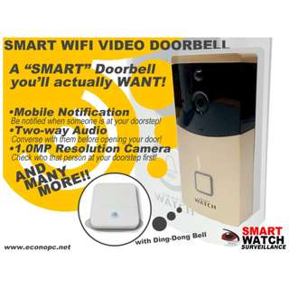 Smart Watch Wifi Video Doorbell with Two-way Audio for Conversation