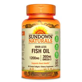 Odorless Fish Oil 1200mg, 85 coated sgls