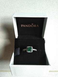 Pandora Green Stone Ring
