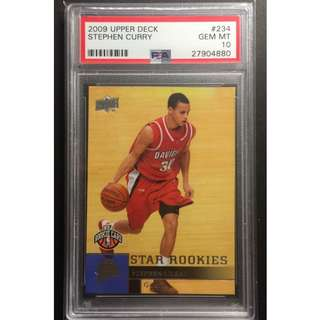 Stephen Curry Rookie Card UD Graded by PSA Original Card