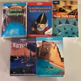 Lonely Planet Series (Central Europe, Scandinavian & Baltic Europe, NYC, Egypt & Mediterranean Europe)