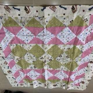 Patchwork cotton blanket