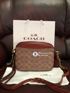 Coach Camera Bag with Signature Canvas
