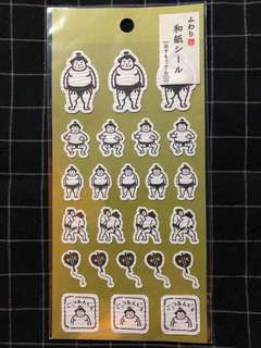 可愛相撲手貼紙