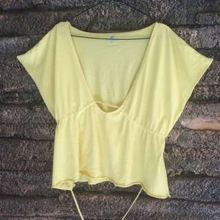 GIORDANO Yellow Top
