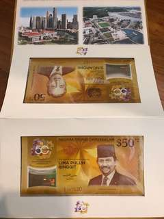 50 years currency interchangeability agreement commemorative notes