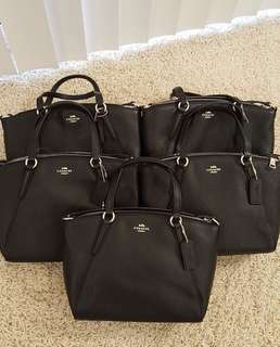 Coach Mini Kelsey in Black Original