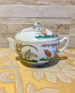 For sharing only. 同治花鸟茶壶 Qing antique small tea pot