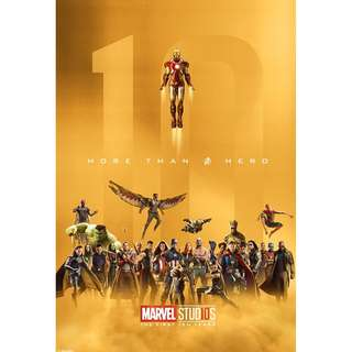 Marvel ten year anniversary posters