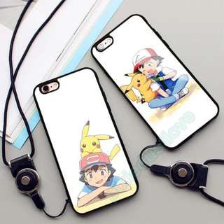 ash and pikachu phone casing