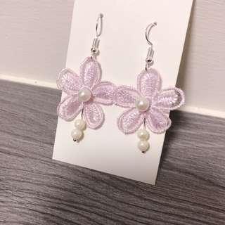 🚚 紫色夢幻/手作耳環💜