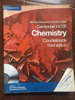 Cambridge IGCSE Chemistry Coursebook Third Edition with CD