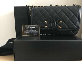 Chanel CC Filigree flap bag
