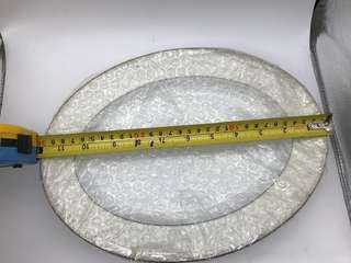 舊 匯豐銀行 橢圓陶瓷碟 長12吋 闊9吋