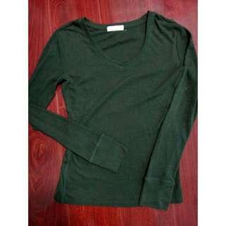 Women's Long Sleeves Shirt V-Neck Forever 21 F21