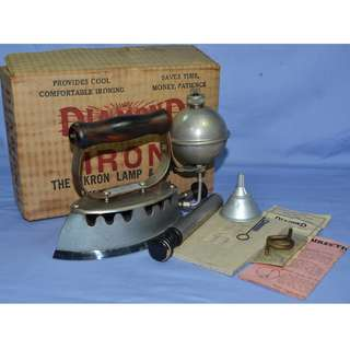 ANTIQUE VINTAGE AKRON DIAMOND USA GASOLINE IRON