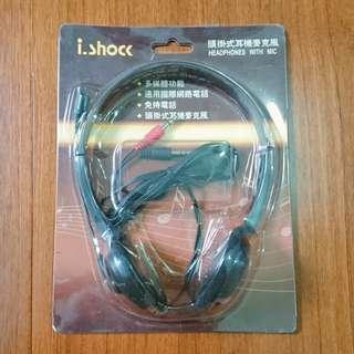 🚚 i.shock 頭掛式耳機麥克風