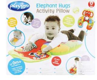 Playgro lay & play elephants hugs pillow