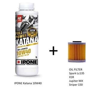 IPONE Katana 10w40 + Oil filter (cash & carry)