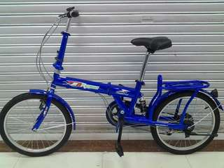 mk freestyle w rear suspension folding bike