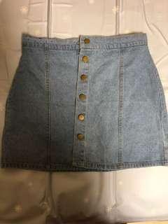 🚚 淺藍牛仔短裙