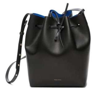 Mansur Gavriel Bucket Bag (Blue vs Black)