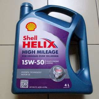 Shell Helix Synthetic Enjine Motor Oil 15W-50 4L