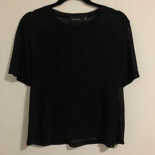 MINK PINK sheer top medium