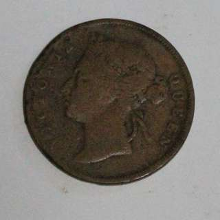 RARE Duit Syiling Lama Old Coin 1897 Straits Settlements One 1 Cent