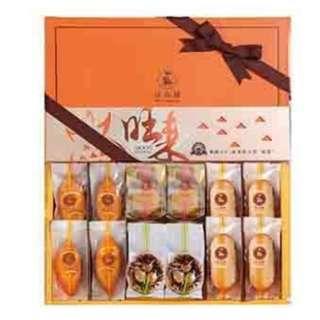 中秋團購第二波-金月禮盒(橘子蛋糕x4+法式鳳梨酥x4+頂級金月奶皇月餅x2+養生堅果塔x2)